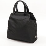 Prada Black Tessuto Nylon Tote Bag with Acrylic Handles