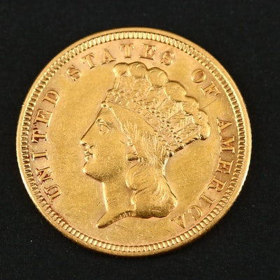 1856 Indian Princess Head $3 Gold Coin