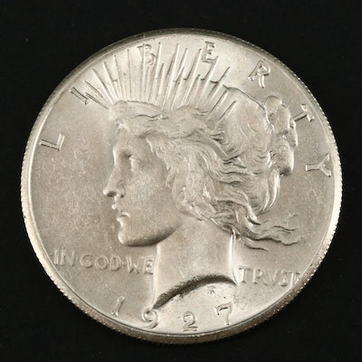 Better Date Low Mintage 1927 Peace Silver Dollar
