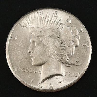 Better Date Low Mintage 1927 Peace Silver Dollar