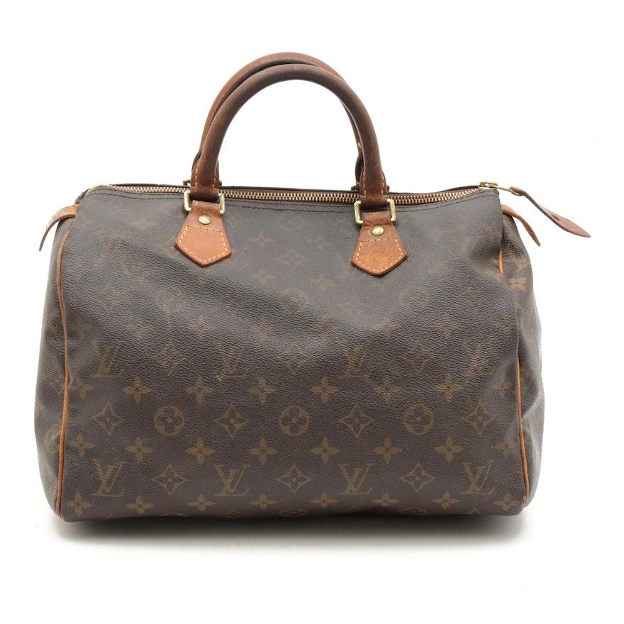 Louis Vuitton Monogram Speedy 30 Handbag