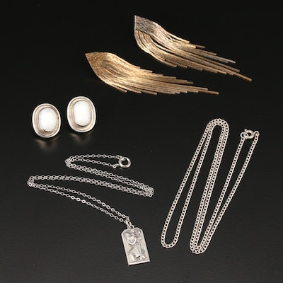 Sterling Necklaces and Earrings