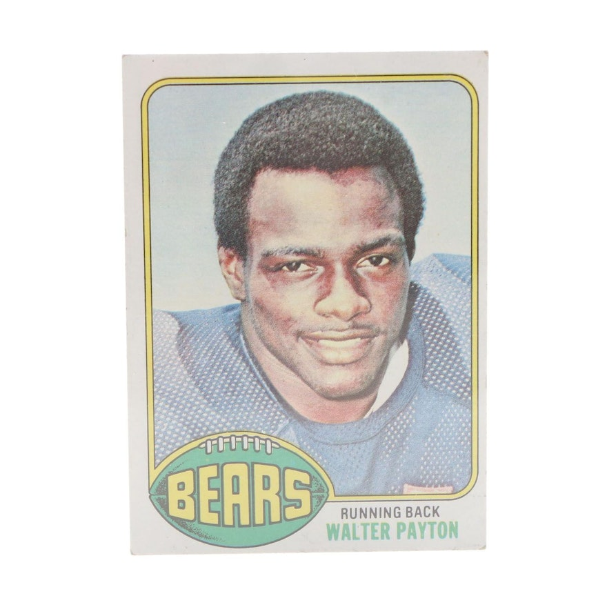 1976 Walter Payton Chicago Bear Topps Rookie Card