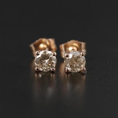 14K Rose Gold 0.65 CTW Diamond Stud Earrings