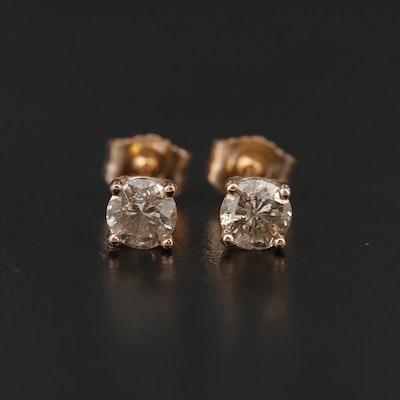 14K Rose Gold 0.63 CTW Diamond Stud Earrings