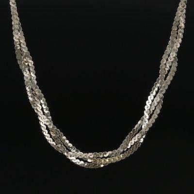 Sterling Silver Serpentine Link Chain