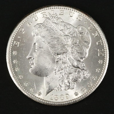 Better Date Low Mintage 1889-S Morgan Silver Dollar