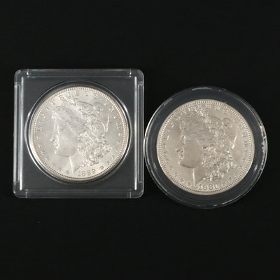 1880 and 1889 Morgan Silver Dollars