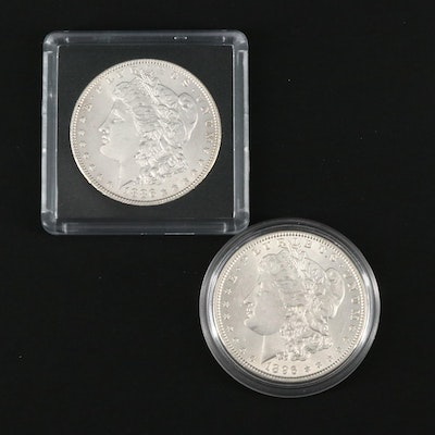 1886 and 1896 Morgan Silver Dollars