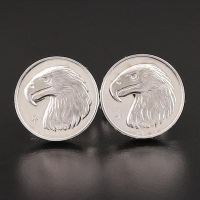 Vintage Gilroy Roberts Franklin Mint Sterling Silver Cufflinks