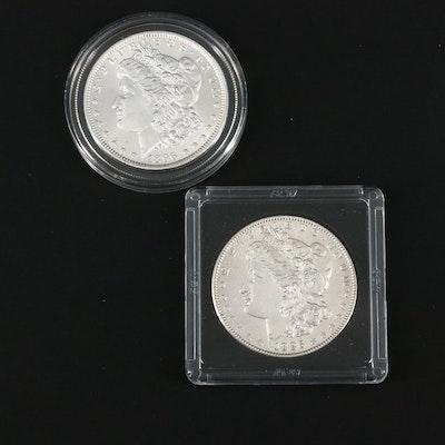 1886 and 1896 Morgan Silver Dollars