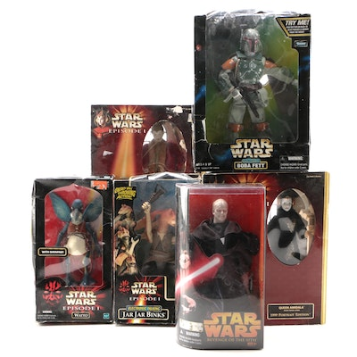 "Hasbro ""Star Wars"" Large Action Figures in Original Packaging, 1990s-2000s"