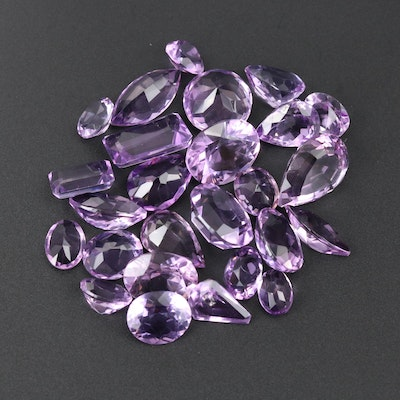 Loose 62.27 CTW Faceted Amethyst Gemstones