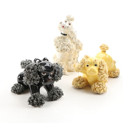 Japanese Porcelain Dog Figurines, 1950s