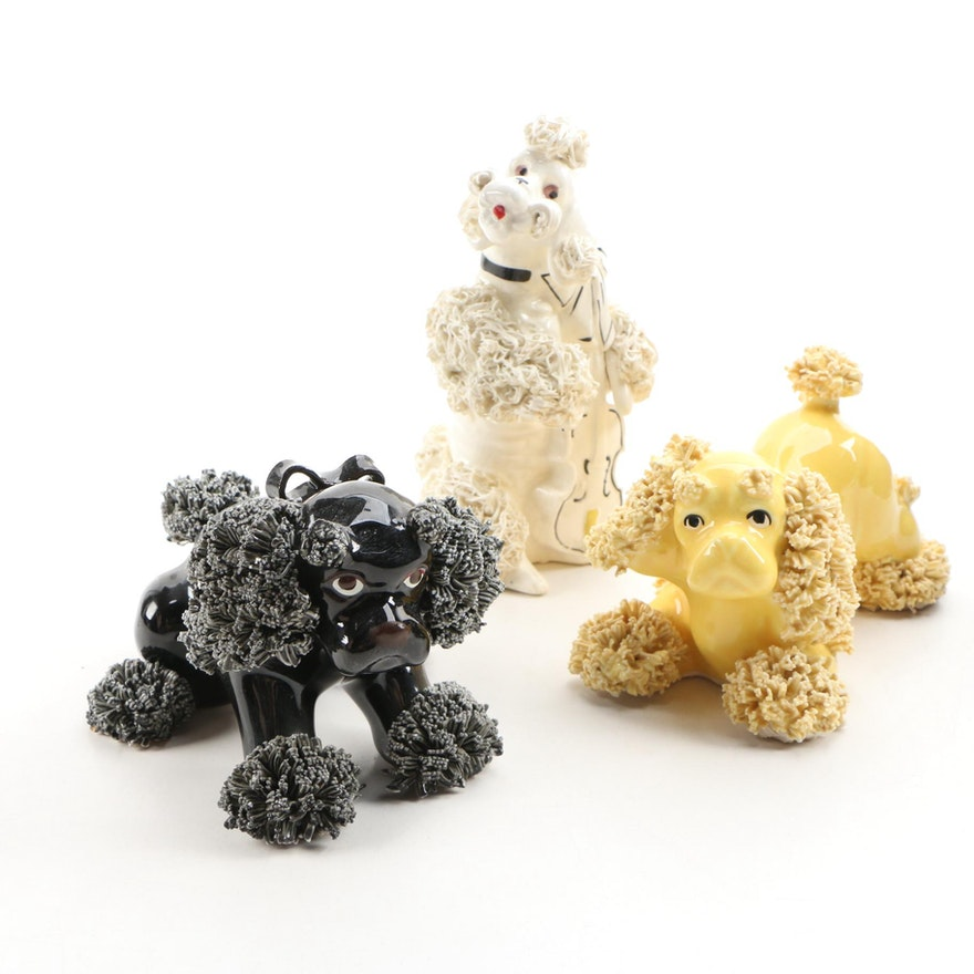 Japanese Porcelain Dog Figurines, 1950s
