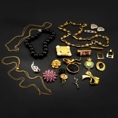 Jewelry Collection Featuring Les Bernard, Kenneth Jay Lane and Sterling Silver