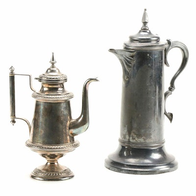 Simpson, Hall, Miller & Co. Silver Plate Pitcher with Swedish Coffee Pot