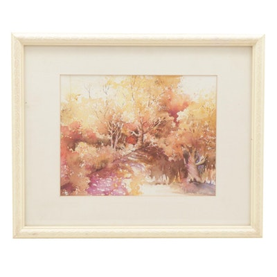 Carol Kappel Fall Landscape Watercolor Painting