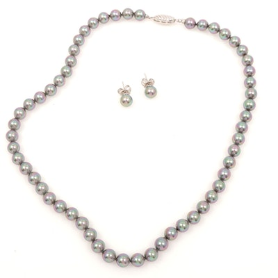 Majorca Sterling Silver Necklace with Earrings