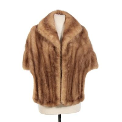 Blonde Mink Fur Stole by Leakas Furs, Vintage