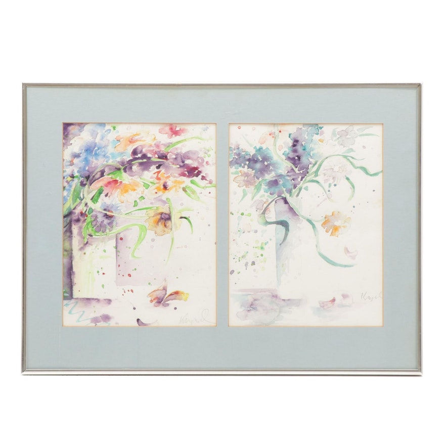 Carol Kappel Floral Still Life Watercolor Paintings