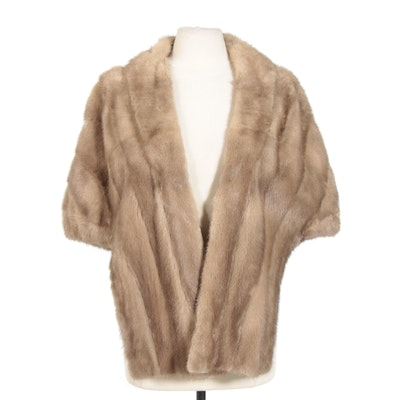 Mink Fur Stole From Stern Brothers New York, Vintage