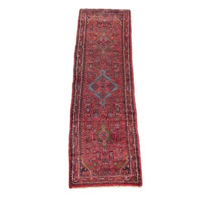2'7 x 9'1 Hand-Knotted Persian Karaja Wool Carpet Runner