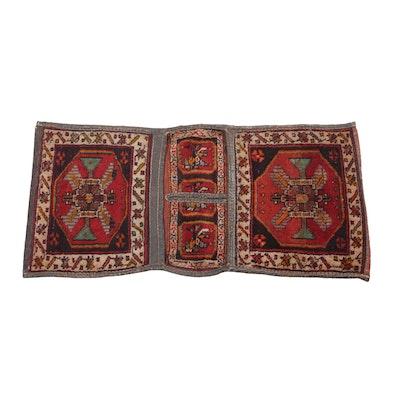 1'9 x 3'11 Hand-Knotted Persian Kurdish Saddle Bag, 1920s