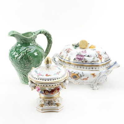 "Chelsea House ""Nymphenberg"" Reproduction Tureen and Potpourri Porcelain Décor"
