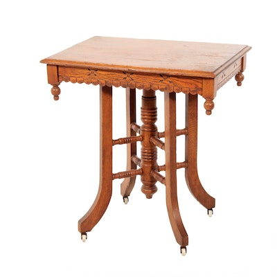 Eastlake Style Occasional Table, Early 20th Century