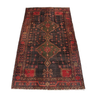 5'2 x 9'6 Hand-Knotted Northwest Persian Rug, 1950s