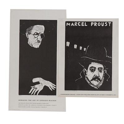 Leonard Maurer Exhibition Posters, 1970s