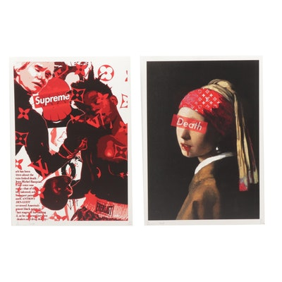 Death NYC Graphic Offset Lithographs