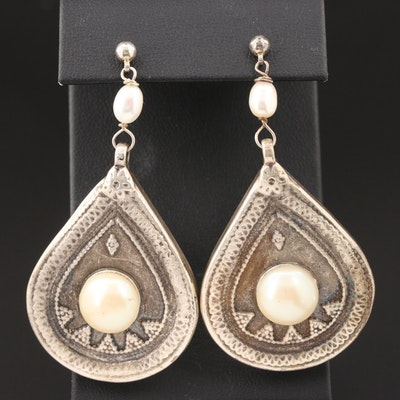 Cultured Pearl Drop Earrings