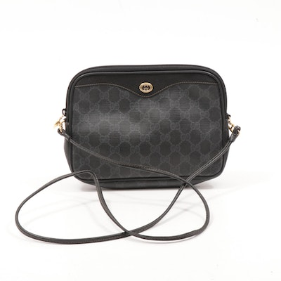 Gucci Accessory Collection GG Supreme Coated Canvas and Leather Crossbody Bag