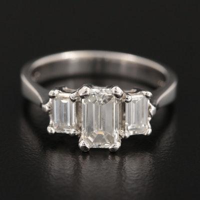 Platinum 1.70 CTW Diamond Ring with GIA Report