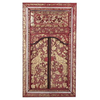 Southeast Asian Carved Wooden Shutters