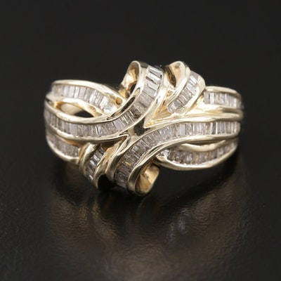 10K Yellow Gold 1.30 CTW Diamond Ring