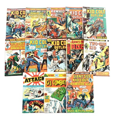 "Marvel Western Themed Comic Books Including ""Rawhide Kid"" and ""Kid Colt"" Vintage"