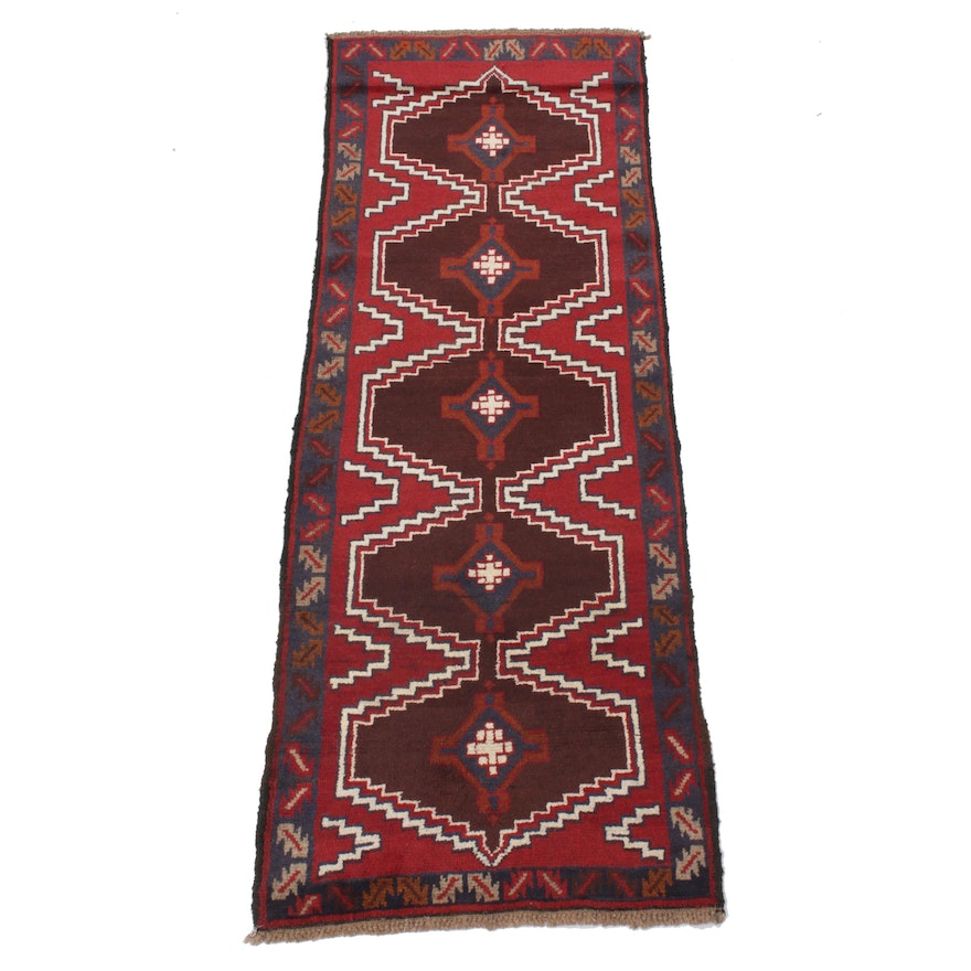 2'5 x 6'10 Hand-Knotted Afghani Baluch Runner