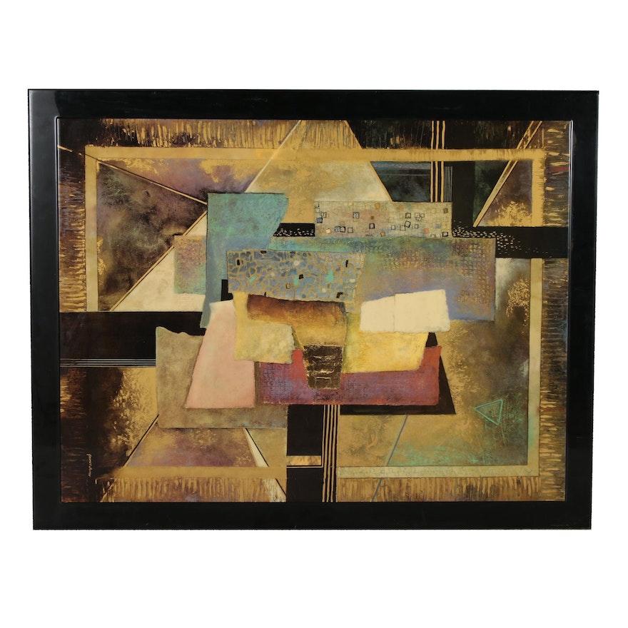 """Embellished Offset Lithograph after James Turco """"Affirmation"""""""