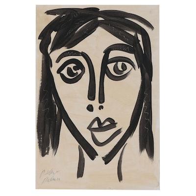 Peter Keil Acrylic Portrait Painting