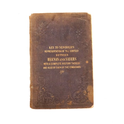 "1860 ""History of the Great International Contest Between Heenan and Sayers"" Book"