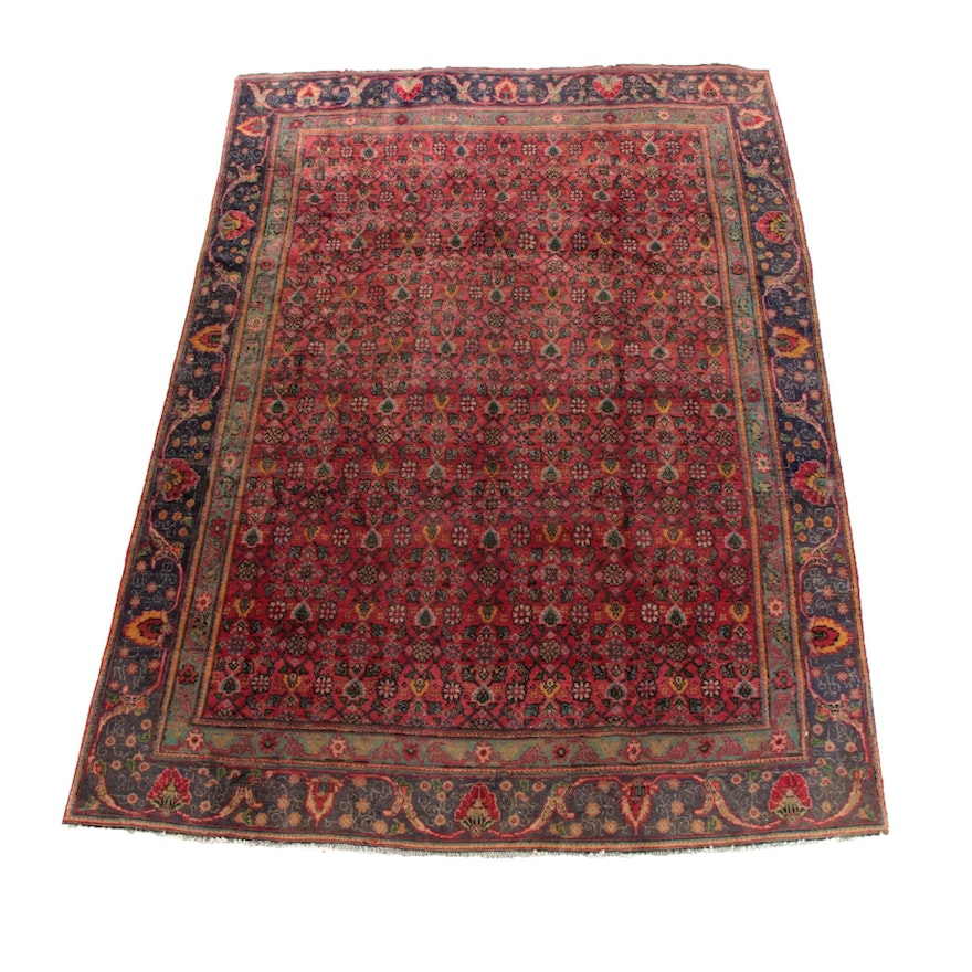 7'4 x 10'6 Hand-Knotted Persian Tabriz Wool Rug