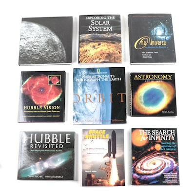 "Space Exploration and Reference Books Including ""Hubble Revisited"""