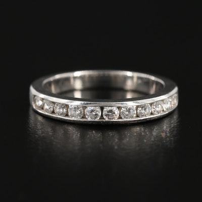 Tiffany & Co. Platinum Diamond Channel Ring