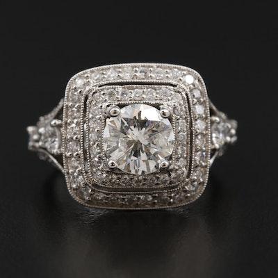 14K White Gold 3.05 CTW Diamond Ring
