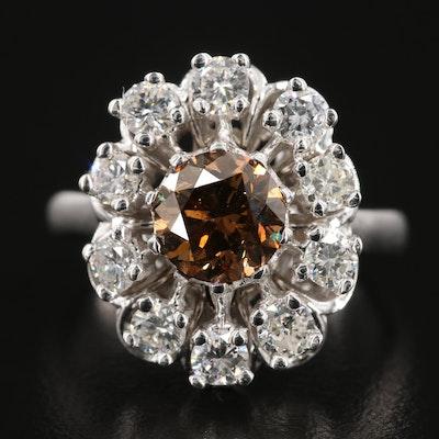 14K White Gold 2.33 CTW Diamond Ring