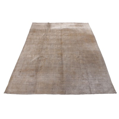 8'10 x 11'5 Hand-Knotted Indian Bamboo Silk Room-Size Rug, 2010s