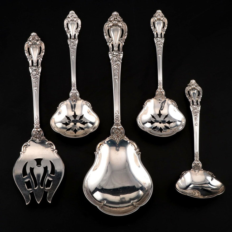"Lunt ""Eloquence"" Sterling Silver Serving Utensils, Mid/Late 20th Century"